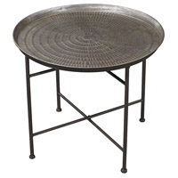 Sterling Signature Embossed Pewter Accent Table 3200-009