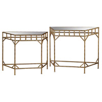 Sterling Signature Gold Leaf and Antique Mirror Nested Tables 3200-022/S2