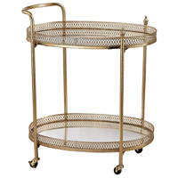 Signature Gold Leaf & Mirror Bar Cart