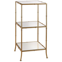 Sterling 3200-035 Malacca 31 X 14 X 14 inch Gold Leaf/Mirror Shelf