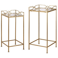 Sterling 3200-036/S2 Signature 31 X 14 inch Gold Leaf & Mirror Side Tables