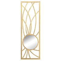 Elan 36 X 12 inch Gold Wall Mirror Home Decor