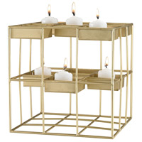 Sterling Plaza Candle Holder in Gold Leaf 3200-066