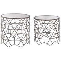 Sterling 3200-084/S2 Vector 20 X 20 inch Black Side Tables, Set of 2