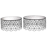 Vector Black Coffee Tables, Set of 2
