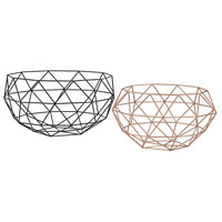 Connect Black, Rose Gold Bowls, Set of 2