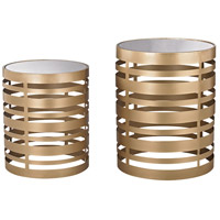 Hotchkiss 16 X 16 inch Soft Gold Accent Tables Home Decor, Set of 2