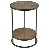Circa 18 inch Hazelnut And Aged Pewter Accent Table Home Decor