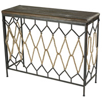 Rope Truss 41 inch Sand Blasted Hazelnut And Rust Console Home Decor