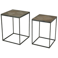Circa 16 inch Hazelnut And Rust Accent Tables Home Decor, Set of 2