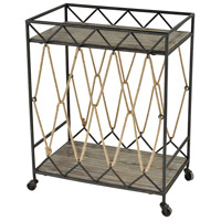 Roadshow Sand Blasted Hazelnut And Rust Bar Cart