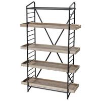 Sterling 3200-165 Six Corners 58 X 36 X 12 inch Natural Wood Tone and Bronze Shelf