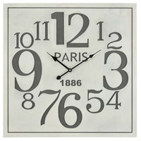 Quai Voltaire Aged White and Grey Wall Clock