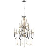 Sommieres 12 Light 33 inch Antique French Cream With Dark Bronze Chandelier Ceiling Light