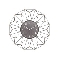 Sterling St. Moritz Wall Clock in Black & Gold 326-8688
