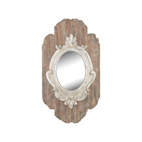 Sterling 326-8699 Villeneuve 50 X 28 inch Weathered Wood & Antique Cream Wall Mirror