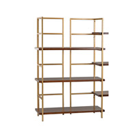 Sterling Balart Gold and Walnut Shelf Unit 351-10167