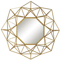 Sterling 351-10178 Geometric Wire 31 X 31 inch Gold Wall Mirror