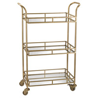 Signature Gold & Mirror Bar Cart