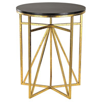 Signature 18 X 18 inch Gold & Dark Espresso Table Home Decor