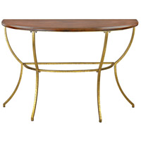 Sterling Balart Walnut and Gold Console 351-10201