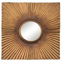 Terraced Gold 16 X 16 inch Aged Gold Wall Mirror Home Decor