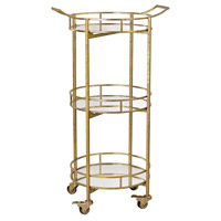 Sterling Signature Gold Leaf Bar Cart 351-10208