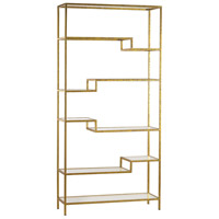 Sterling Signature Gold and Mirrored Shelving Unit 351-10209