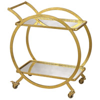 Signature Gold & Antique Mirror Bar Cart