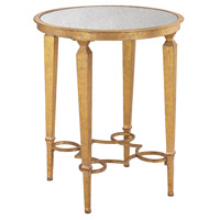 Alcazar 21 X 21 inch Antique Gold, Antique Mirror Accent Table Home Decor