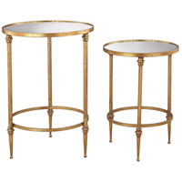 Sterling 351-10236/S2 Alcazar 25 X 18 inch Antique Gold Side Table
