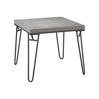 Montparnasse 22 X 22 inch Aged Iron & Concrete Table Home Decor