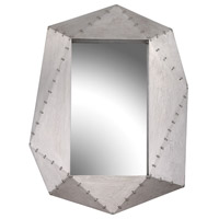 Hedron 30 X 23 inch German Silver Wall Mirror Home Decor