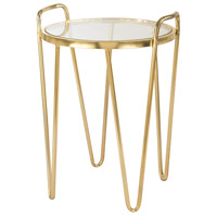 Via Rodeo 16 X 15 inch Gold Accent Table Home Decor