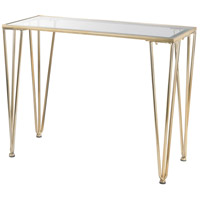 Ivy Chase 39 X 17 inch Gold Console Table Home Decor