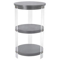 Gothenburg 19 X 19 inch Grey, Clear Accent Table Home Decor
