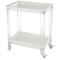 Kamchatka White and Clear Bar Cart