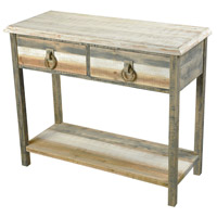Sterling 351-10290 Aquinnah 38 X 14 inch Aged Grey and Caramel and White Console