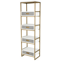 Sterling 351-10293 Olympus 68 X 20 X 13 inch Aged Brass/Grey/White Shelf