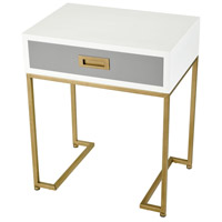 Sterling 351-10294 Olympus 24 X 20 inch Aged Brass/Grey/White Accent Table