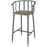 Yonkers 31 inch Galvanized Steel And Rust Bar Stool