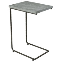 New Brutalism 18 inch Grey Iron And Concrete Side Table Home Decor