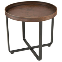 Sterling 351-10546 Copperhead 22 X 20 inch Rust With Dark Bronze Accent Table