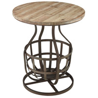Modern Foundry 22 inch Rust And Reclaimed Wood Side Table Home Decor