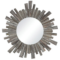 Roanoke 31 X 31 inch Salvaged Grey Oak Wall Mirror Home Decor