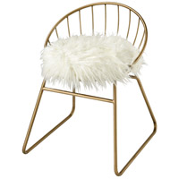 Nuzzle Gold and White Chair