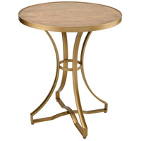 Sterling 351-10573 Scorpius 27 inch Gold and Salvaged Grey Oak Accent Table