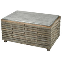 Sterling 351-10594 Boone 48 X 25 inch Salvaged Grey Oak and Galvanized Steel Coffee Table