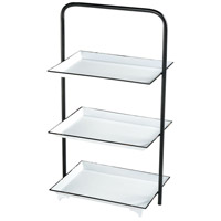 Sterling 351-10616 Gig Harbor 26 X 14 X 10 inch White Enamel/Aged Black Shelf
