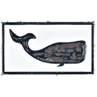 Rock Harbor White Enamel and Navy Enamel Wall Art, Whale